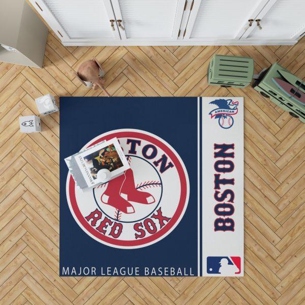 Boston Red Sox MLB Baseball American League Floor Carpet Rug Mat 1