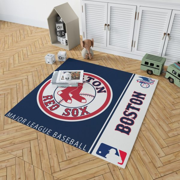 Boston Red Sox MLB Baseball American League Floor Carpet Rug Mat 2