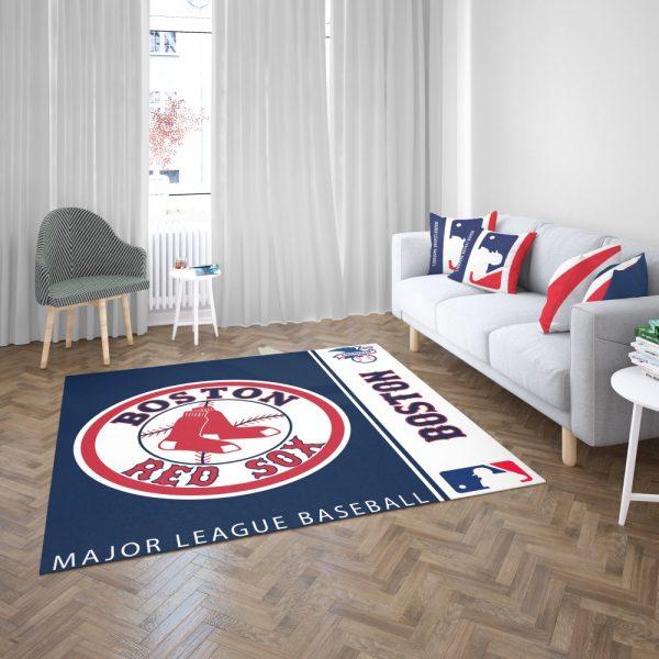 Boston Red Sox MLB Baseball American League Floor Carpet Rug Mat 3