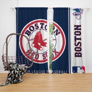 Boston Red Sox MLB Baseball American League Window Curtain