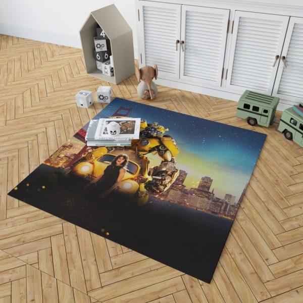 Bumblebee Movie Transformers Hailee Steinfeld Bedroom Living Room Floor Carpet Rug 2