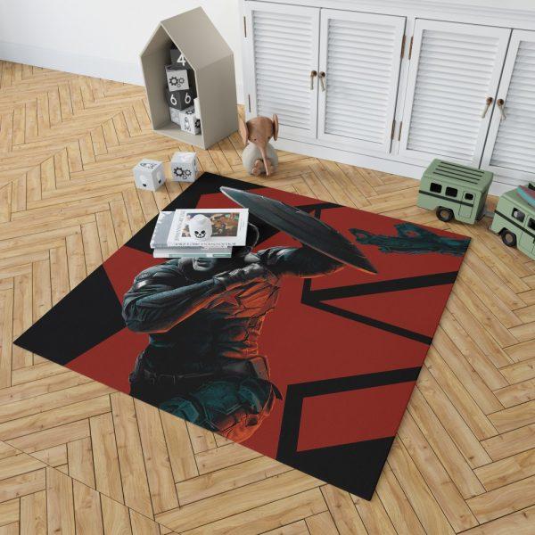 Captain America Chris Evans Marvel Comics Bedroom Living Room Floor Carpet Rug 2