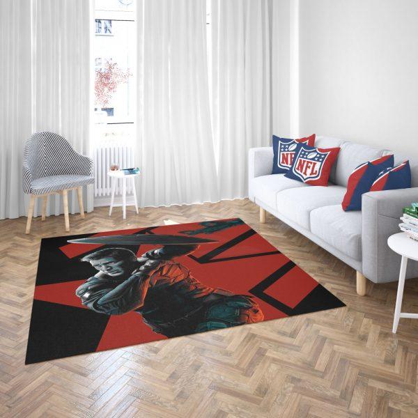 Captain America Chris Evans Marvel Comics Bedroom Living Room Floor Carpet Rug 3