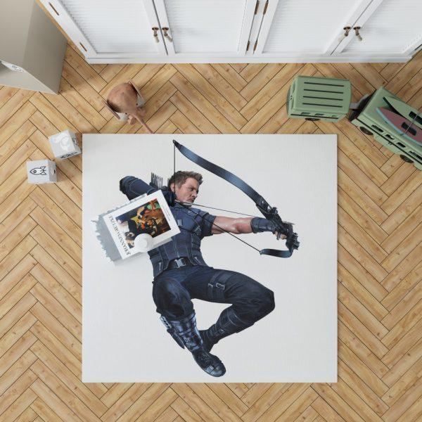 Captain America Civil War Movie Hawkeye Jeremy Renner Bedroom Living Room Floor Carpet Rug 1