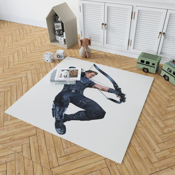 Captain America Civil War Movie Hawkeye Jeremy Renner Bedroom Living Room Floor Carpet Rug 2