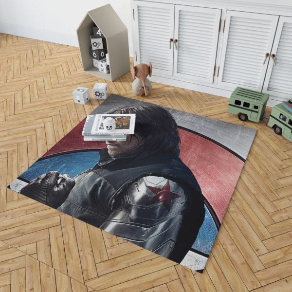 Captain America Civil War Movie Sebastian Stan Winter Soldier Bedroom Living Room Floor Carpet Rug 2
