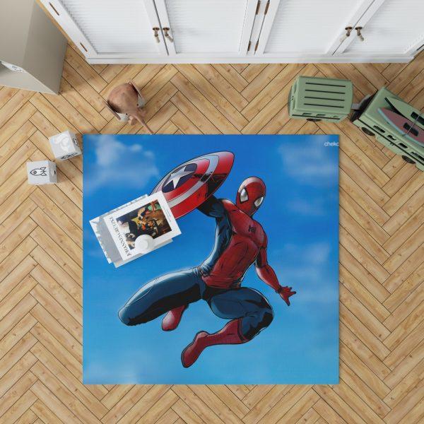 Captain America Civil War Movie Spider-Man Bedroom Living Room Floor Carpet Rug 1