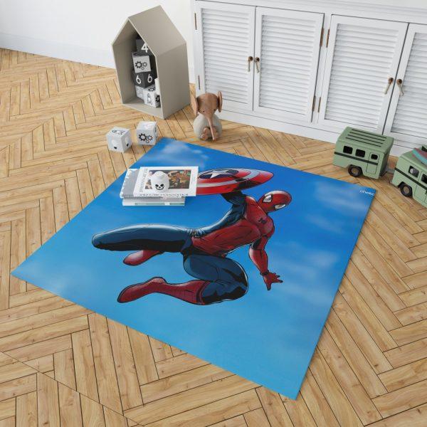 Captain America Civil War Movie Spider-Man Bedroom Living Room Floor Carpet Rug 2