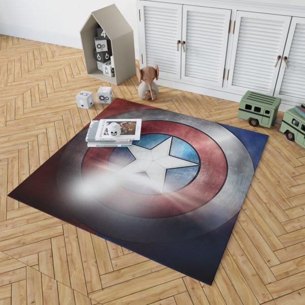 Captain America Shield American Marvel Bedroom Living Room Floor Carpet Rug 2