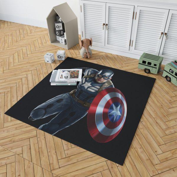 Captain America Superheroes Marvel Comics Bedroom Living Room Floor Carpet Rug 2