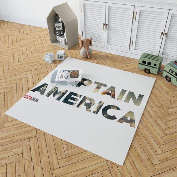 Captain America The First Avenger Movie Bedroom Living Room Floor Carpet Rug 2