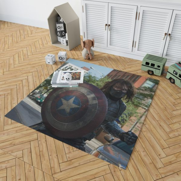 Captain America The Winter Soldier Movie Bedroom Living Room Floor Carpet Rug 2