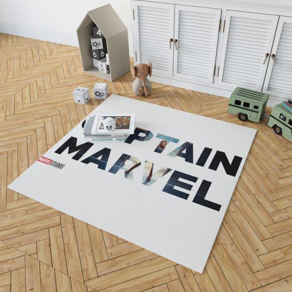 Captain Marvel Movie Bedroom Living Room Floor Carpet Rug 2
