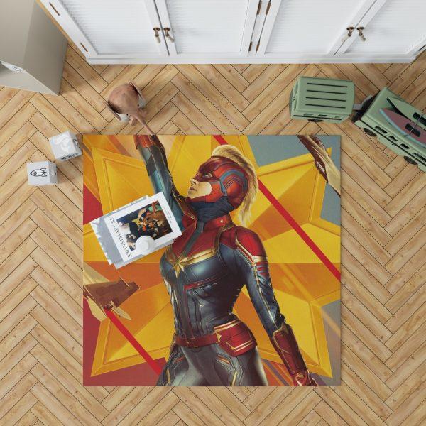 Captain Marvel Movie Brie Larson Avenger Bedroom Living Room Floor Carpet Rug 1