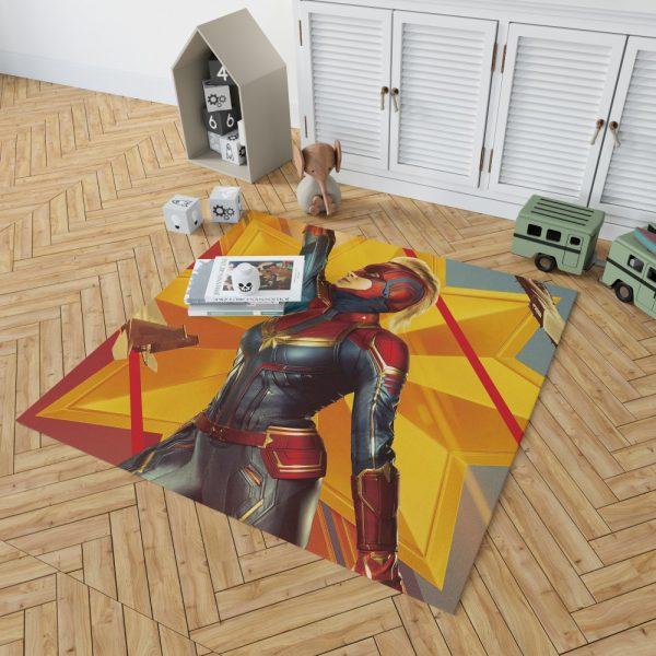 Captain Marvel Movie Brie Larson Avenger Bedroom Living Room Floor Carpet Rug 2