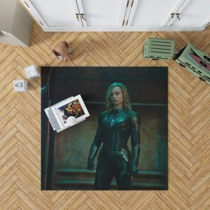 Captain Marvel Movie Brie Larson Bedroom Living Room Floor Carpet Rug 1