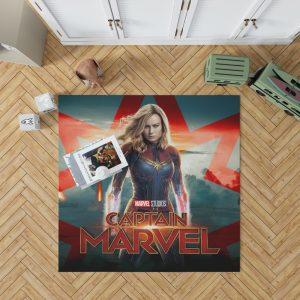 Captain Marvel Movie Brie Larson Marvel Cinematic Universe Bedroom Living Room Floor Carpet Rug 1