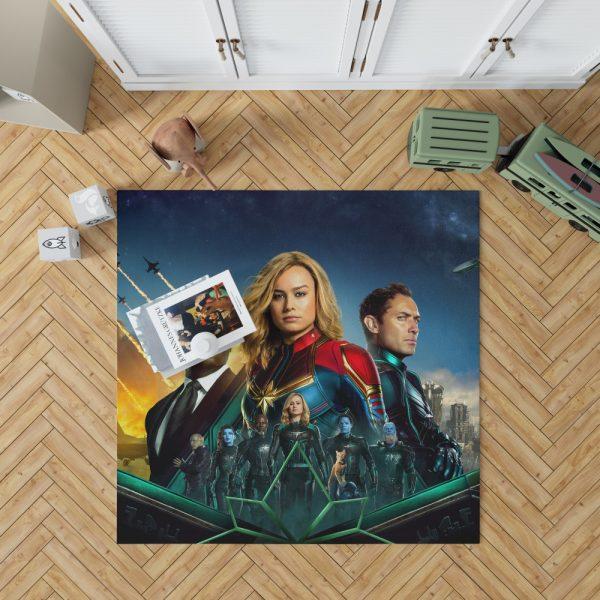Captain Marvel Movie Carol Danvers Nick Fury Yon‑Rogg Marvel Bedroom Living Room Floor Carpet Rug 1