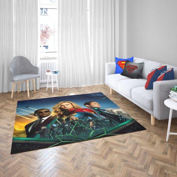 Captain Marvel Movie Carol Danvers Nick Fury Yon‑Rogg Marvel Bedroom Living Room Floor Carpet Rug 2 1