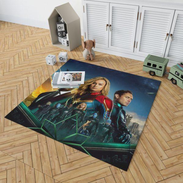 Captain Marvel Movie Carol Danvers Nick Fury Yon‑Rogg Marvel Bedroom Living Room Floor Carpet Rug 2