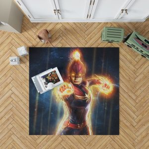 Captain Marvel Movie Carol Danvers Super Women Bedroom Living Room Floor Carpet Rug 1