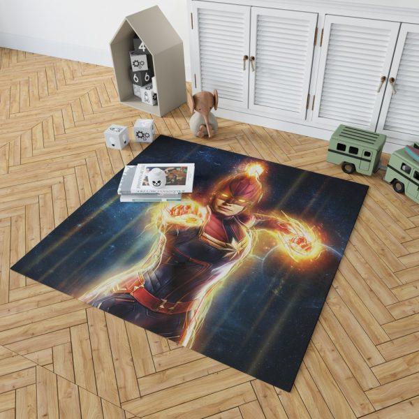 Captain Marvel Movie Carol Danvers Super Women Bedroom Living Room Floor Carpet Rug 2