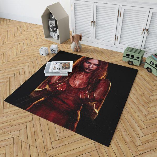 Carrie White in Carrie Movie Chloe Grace Moretz Bedroom Living Room Floor Carpet Rug 2