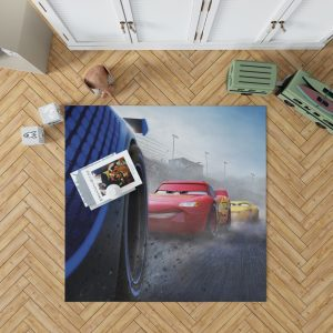 Cars 3 Movie Cruz Ramirez Jackson Storm Lightning McQueen Bedroom Living Room Floor Carpet Rug 1