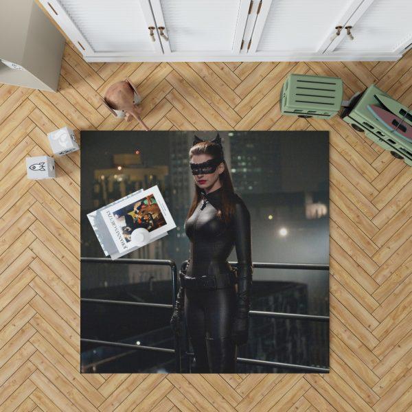 Catwoman in The Dark Knight Rises Movie Bedroom Living Room Floor Carpet Rug 1