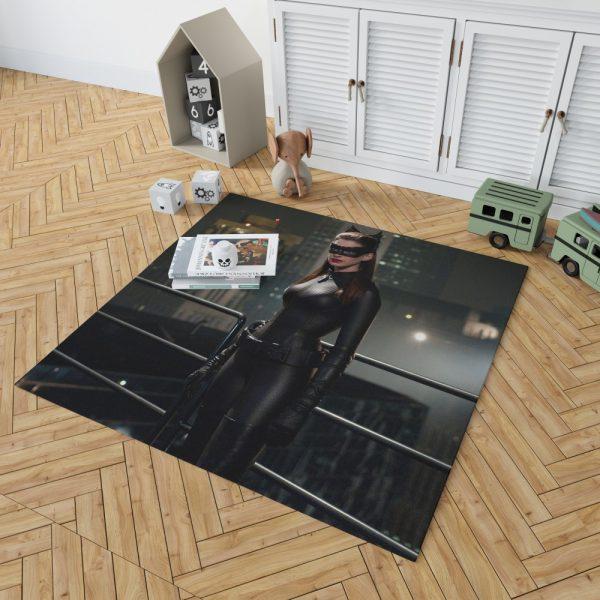 Catwoman in The Dark Knight Rises Movie Bedroom Living Room Floor Carpet Rug 2