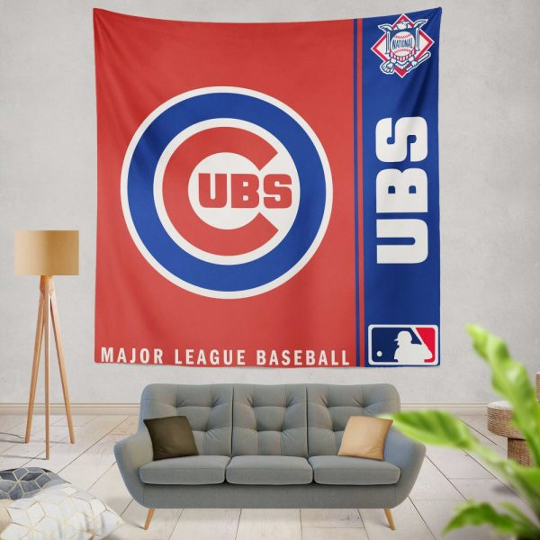Chicago Cubs MLB Baseball National League Wall Hanging Tapestry
