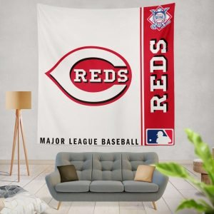 Cincinnati Reds MLB Baseball National League Wall Hanging Tapestry
