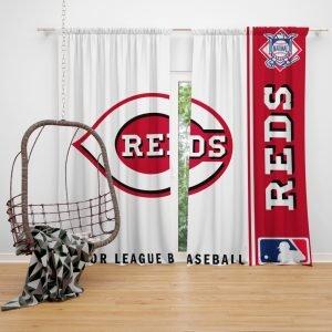 Cincinnati Reds MLB Baseball National League Window Curtain