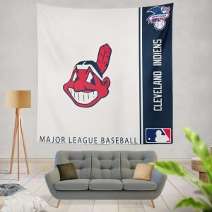 Cleveland Indians MLB Baseball American League Wall Hanging Tapestry