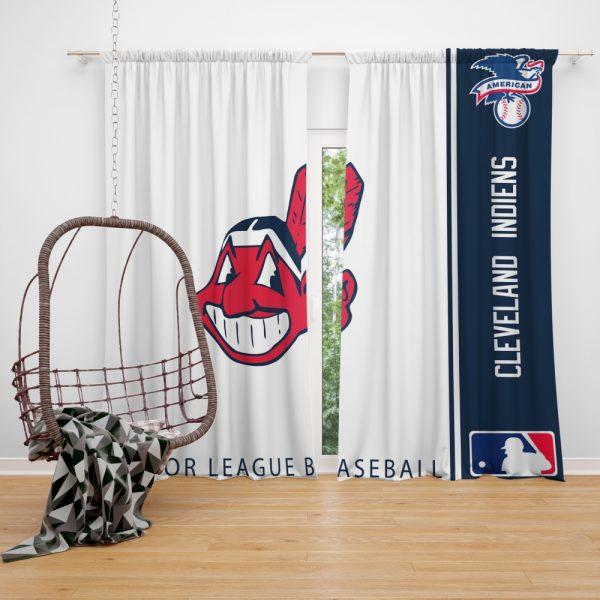 Cleveland Indians MLB Baseball American League Window Curtain