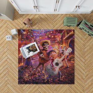 Coco Movie Coco Dante Ernesto de la Cruz Hector Imelda Rivera Bedroom Living Room Floor Carpet Rug 1