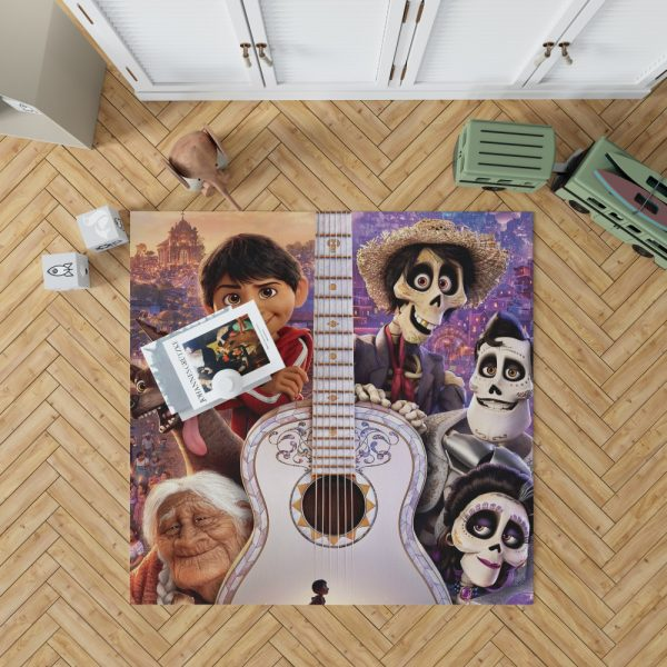 Coco Movie Dante Day of the Dead Ernesto de la Cruz Guitar Bedroom Living Room Floor Carpet Rug 1