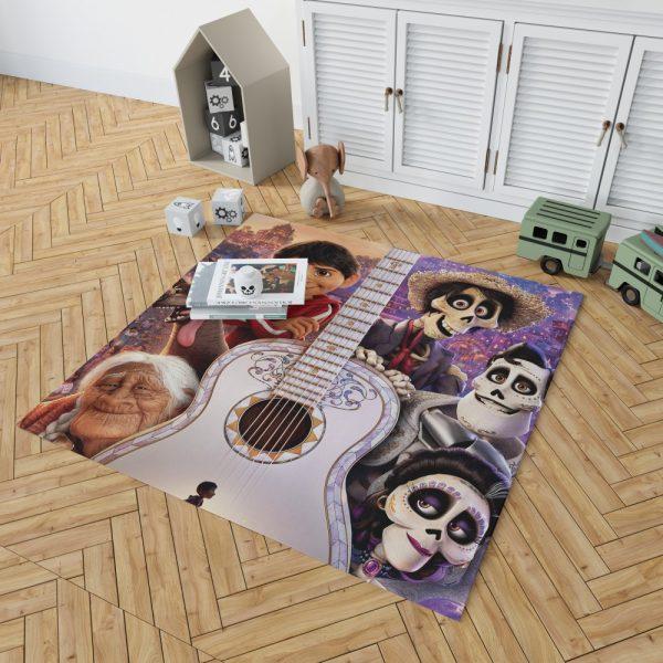 Coco Movie Dante Day of the Dead Ernesto de la Cruz Guitar Bedroom Living Room Floor Carpet Rug 2