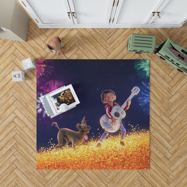 Coco Movie Dante Fireworks Miguel Rivera Bedroom Living Room Floor Carpet Rug 1