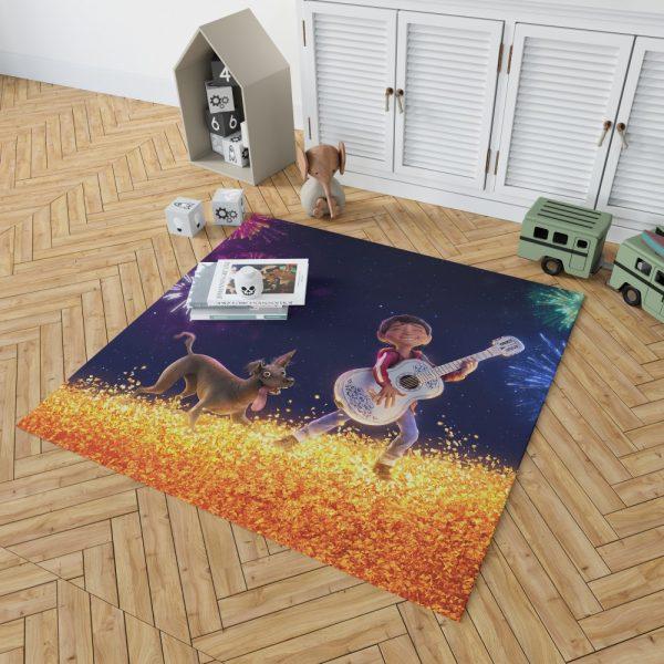 Coco Movie Dante Fireworks Miguel Rivera Bedroom Living Room Floor Carpet Rug 2