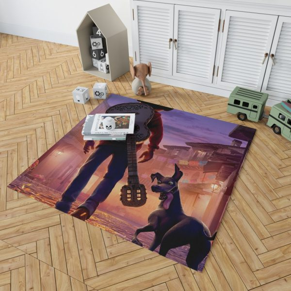 Coco Movie Dante Guitar Miguel Rivera Bedroom Living Room Floor Carpet Rug 2
