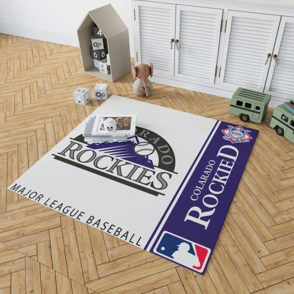 Colorado Rockies MLB Baseball National League Floor Carpet Rug Mat 2