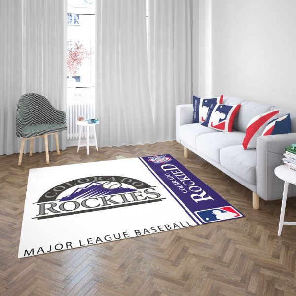 Colorado Rockies MLB Baseball National League Floor Carpet Rug Mat 3