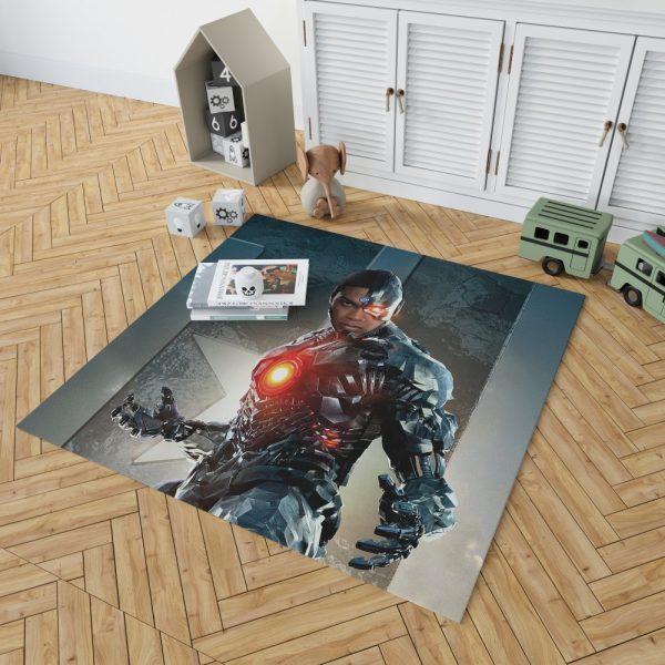 Cyborg Justice League Bedroom Living Room Floor Carpet Rug 2