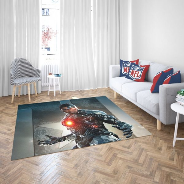 Cyborg Justice League Bedroom Living Room Floor Carpet Rug 3