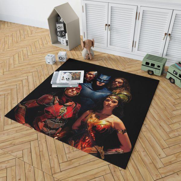 DC Comics Justice League Movie Bedroom Living Room Floor Carpet Rug 2