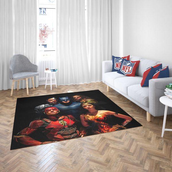 DC Comics Justice League Movie Bedroom Living Room Floor Carpet Rug 3