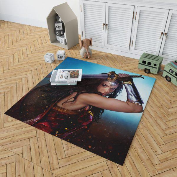 DC Comics Super Heroine Wonder Woman Bedroom Living Room Floor Carpet Rug 2
