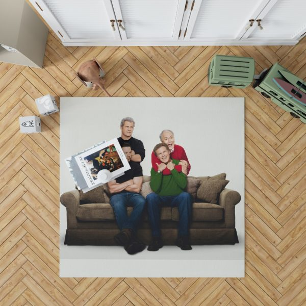 Daddy's Home 2 Movie John Lithgow Mark Wahlberg Mel Gibson Will Ferrell Bedroom Living Room Floor Carpet Rug 1