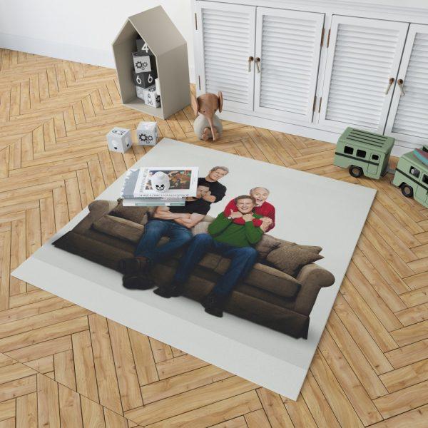 Daddy's Home 2 Movie John Lithgow Mark Wahlberg Mel Gibson Will Ferrell Bedroom Living Room Floor Carpet Rug 2
